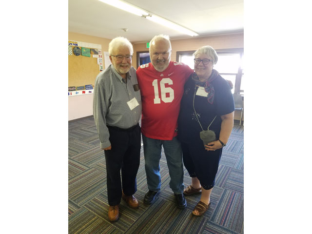 Rick and Nita Luis have long been active in corporate governance of the Louis August Jonas Foundation, which operates Camp Rising Sun in Upstate New York, a leadership camp for 15-year-olds from around the world. Here they are shown with a former Executive Director David Ives (a Nobel Prize nominee) during a July 2019 Camp Rising Sun Alumni Reunion. Rick was a Camper as a 15-year-old, and it helped inspire him to apply to Yale.