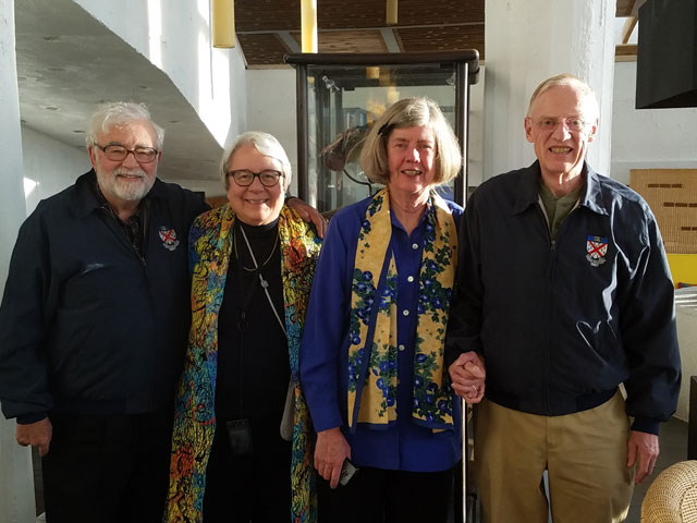 Rick and Nita Luis and Caroline Herrick and spouse Ted Sands in Patagonia with Yale Educational Travel. Rick and Ted proudly wore their Yale 1967 jackets.