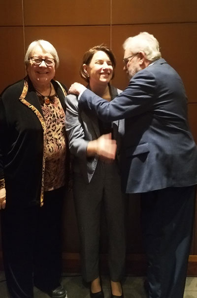 Rick and Nita greet Klobuchar